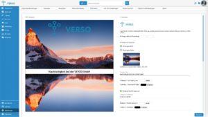 VERSO CSR Hub PDF Export Beispiel