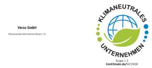 CSR Management VERSO Klimaneutral CO2-neutral