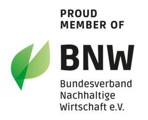 VERSO ist BNW Mitglied - Bundesverband Nachhaltige Wirtschaft