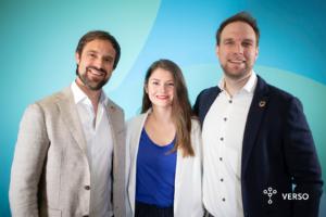 VERSO Management Team: Florian Holl, Nuvia Maslo, Andreas Maslo